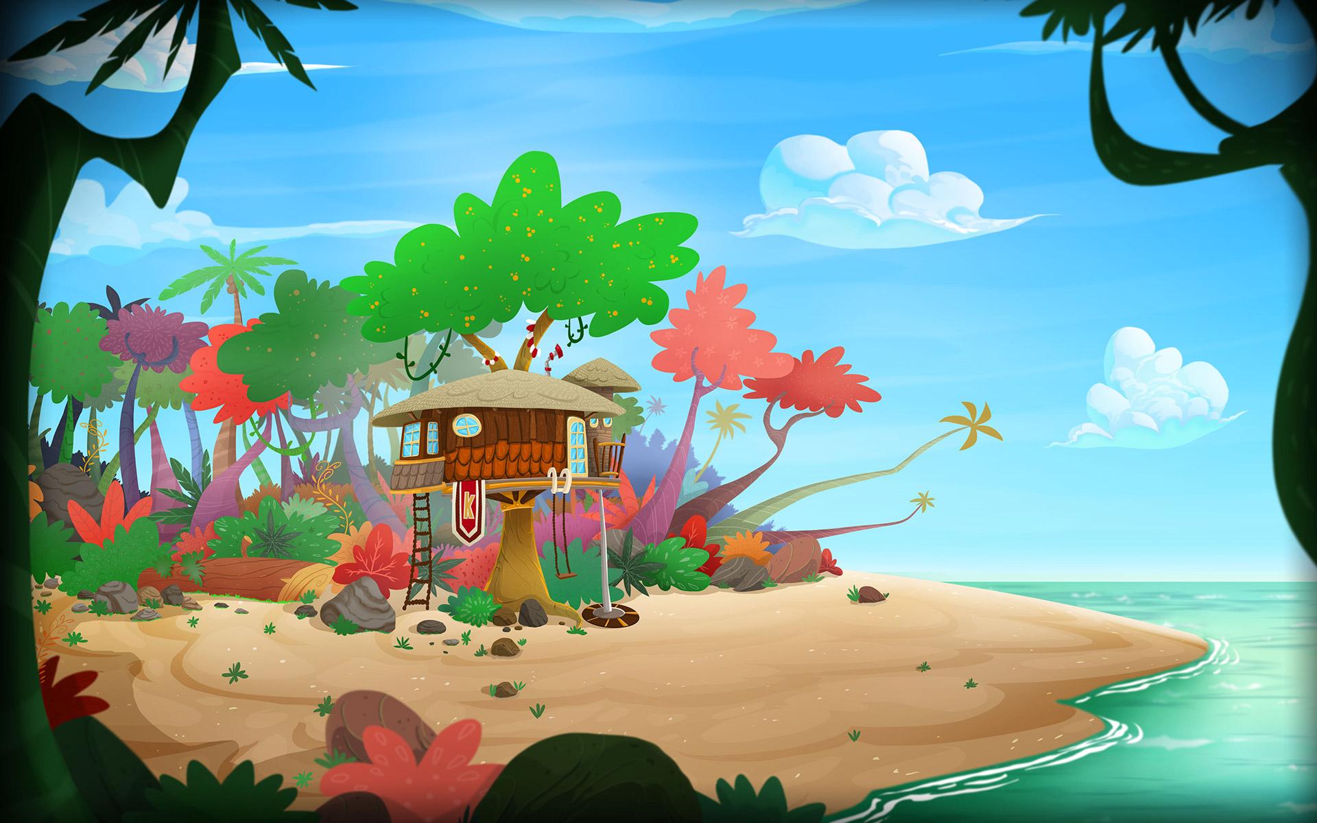 kamalu e sua turma cenario ilha praia dumela filmes - Kamalu e Sua Turma