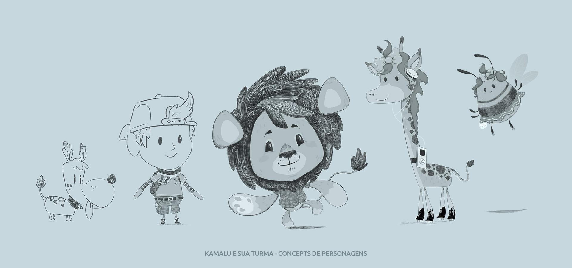 kamalu e sua turma concepts de personagens dumela filmes - Kamalu e Sua Turma